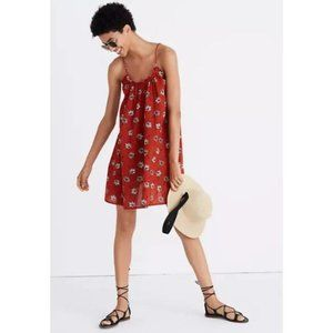 Madewell Tulum Floral Rust Cover Up Mini Dress XS